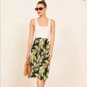 Vtg Tropical Hawaiian Print Summer Long Midi Skirt
